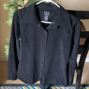 INC heavy weight button down top/lite weight layer